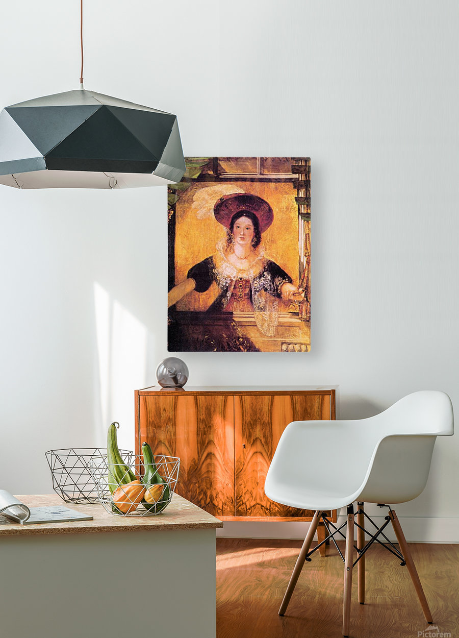 Jessica by Joseph Mallord Turner  HD Metal print with Floating Frame on Back