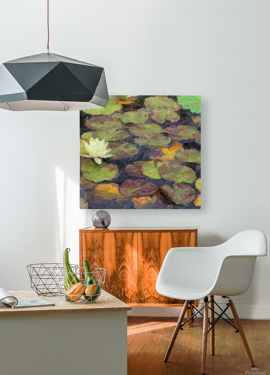 Lillies  HD Metal print with Floating Frame on Back