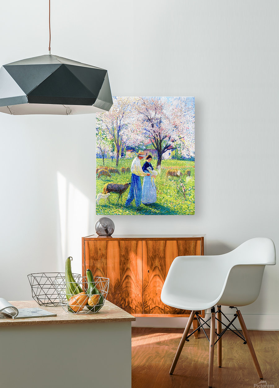 Lovers at Spring  HD Metal print with Floating Frame on Back