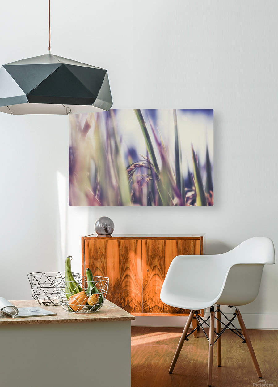 Time to Harvest  HD Metal print with Floating Frame on Back