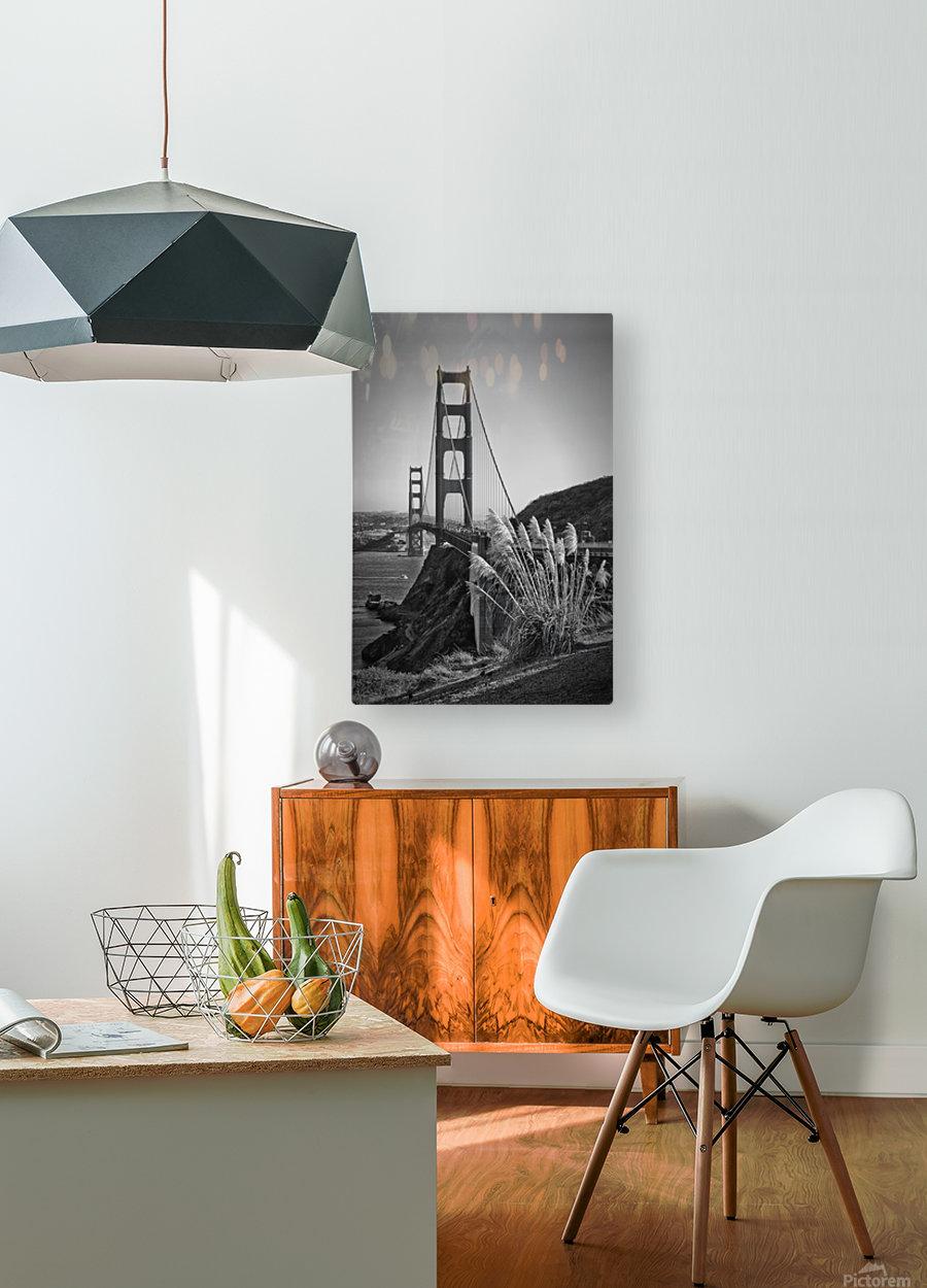 SAN FRANCISCO Golden Gate Bridge  HD Metal print with Floating Frame on Back