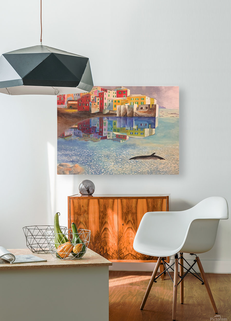 Boccadasse  HD Metal print with Floating Frame on Back
