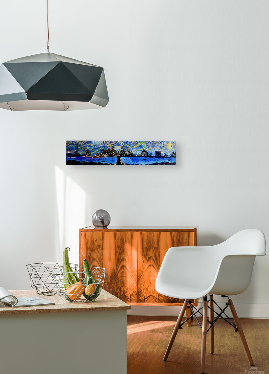 Austin Starry Night. Tala S.  HD Metal print with Floating Frame on Back