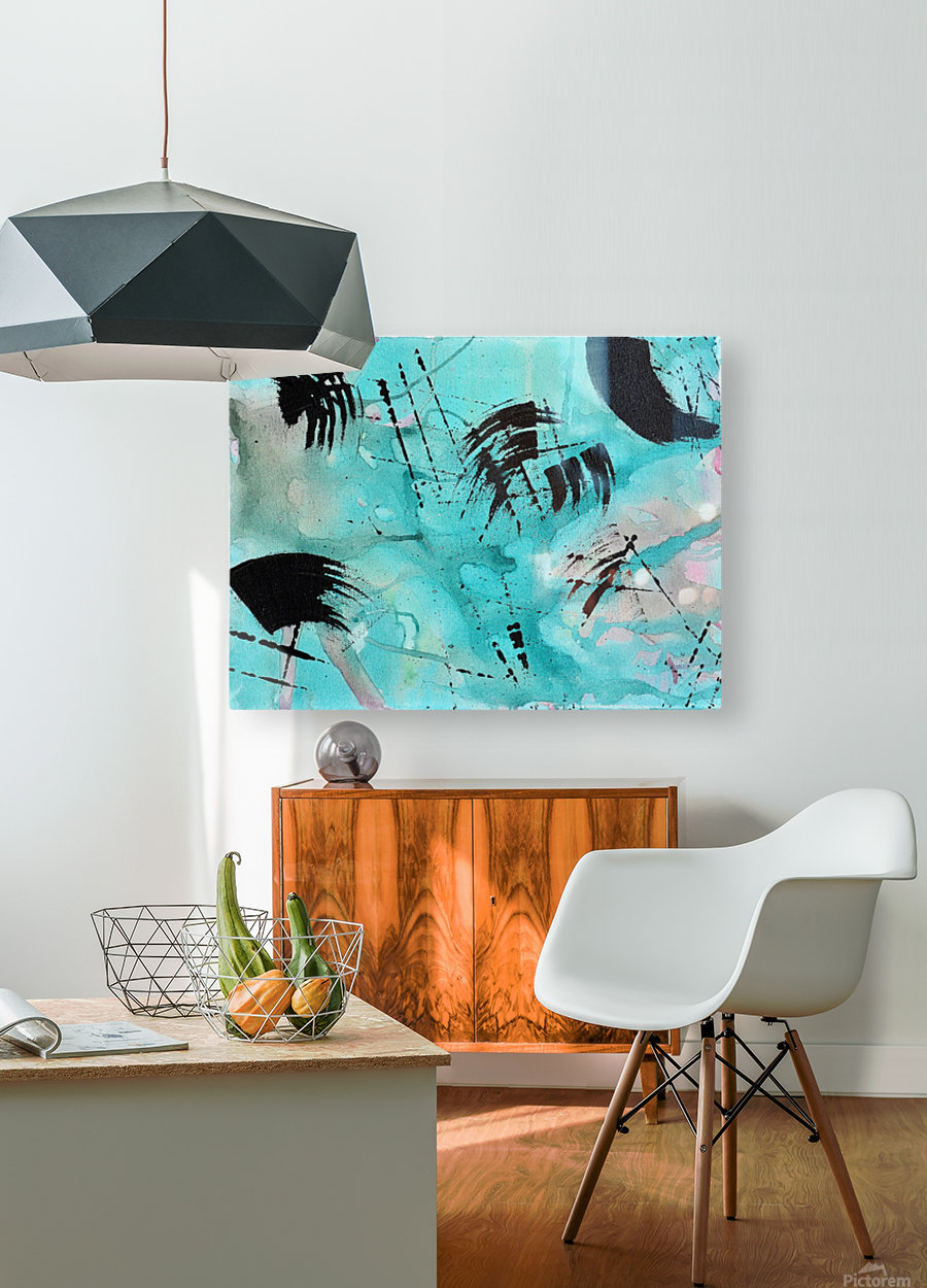 Abstract Watercolor. Geoffory E  HD Metal print with Floating Frame on Back