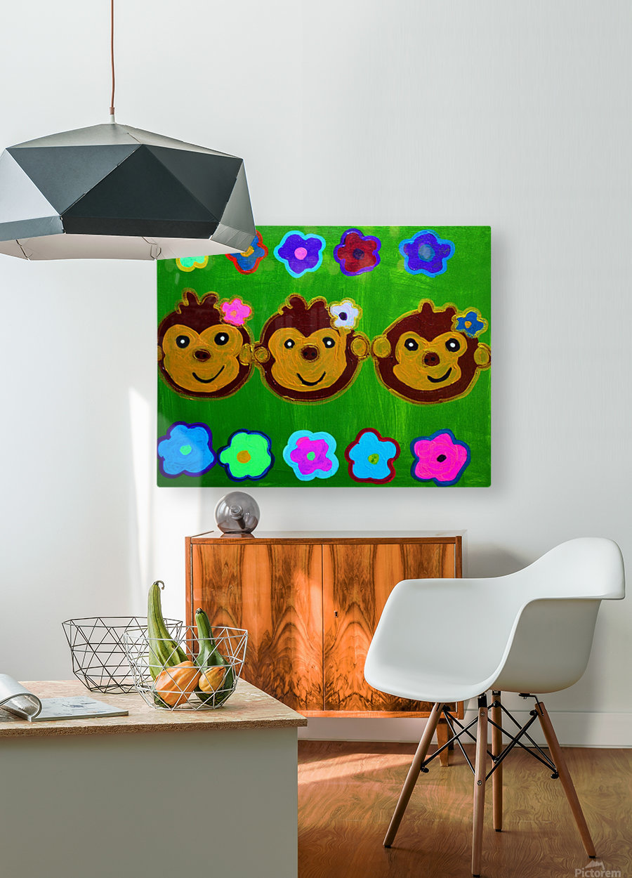 Chain of Monkey.Ali H  HD Metal print with Floating Frame on Back