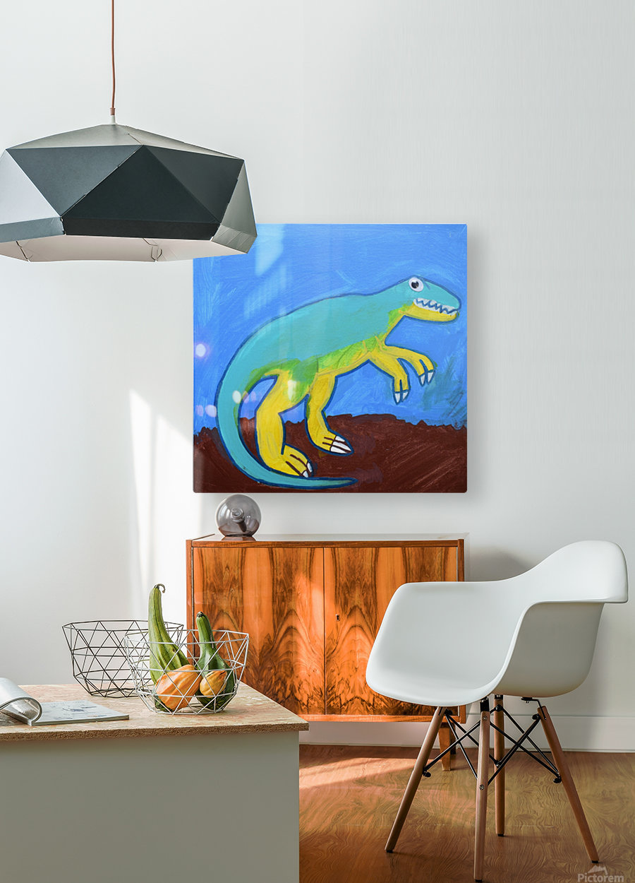 Dino. Dominic H  HD Metal print with Floating Frame on Back