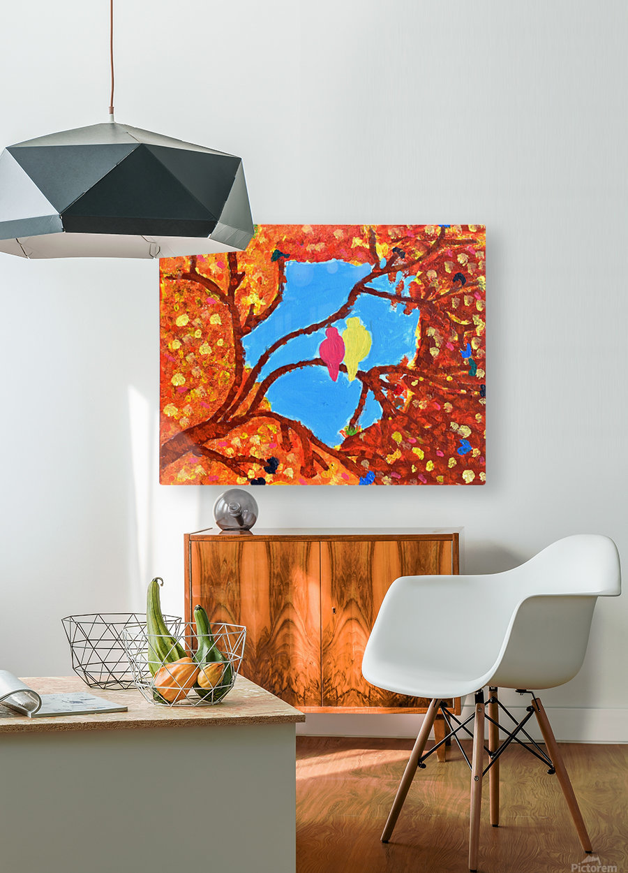 Love Birds. Maggie  HD Metal print with Floating Frame on Back