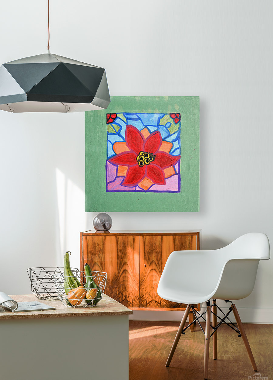 Poinsettia. Thomas L  HD Metal print with Floating Frame on Back