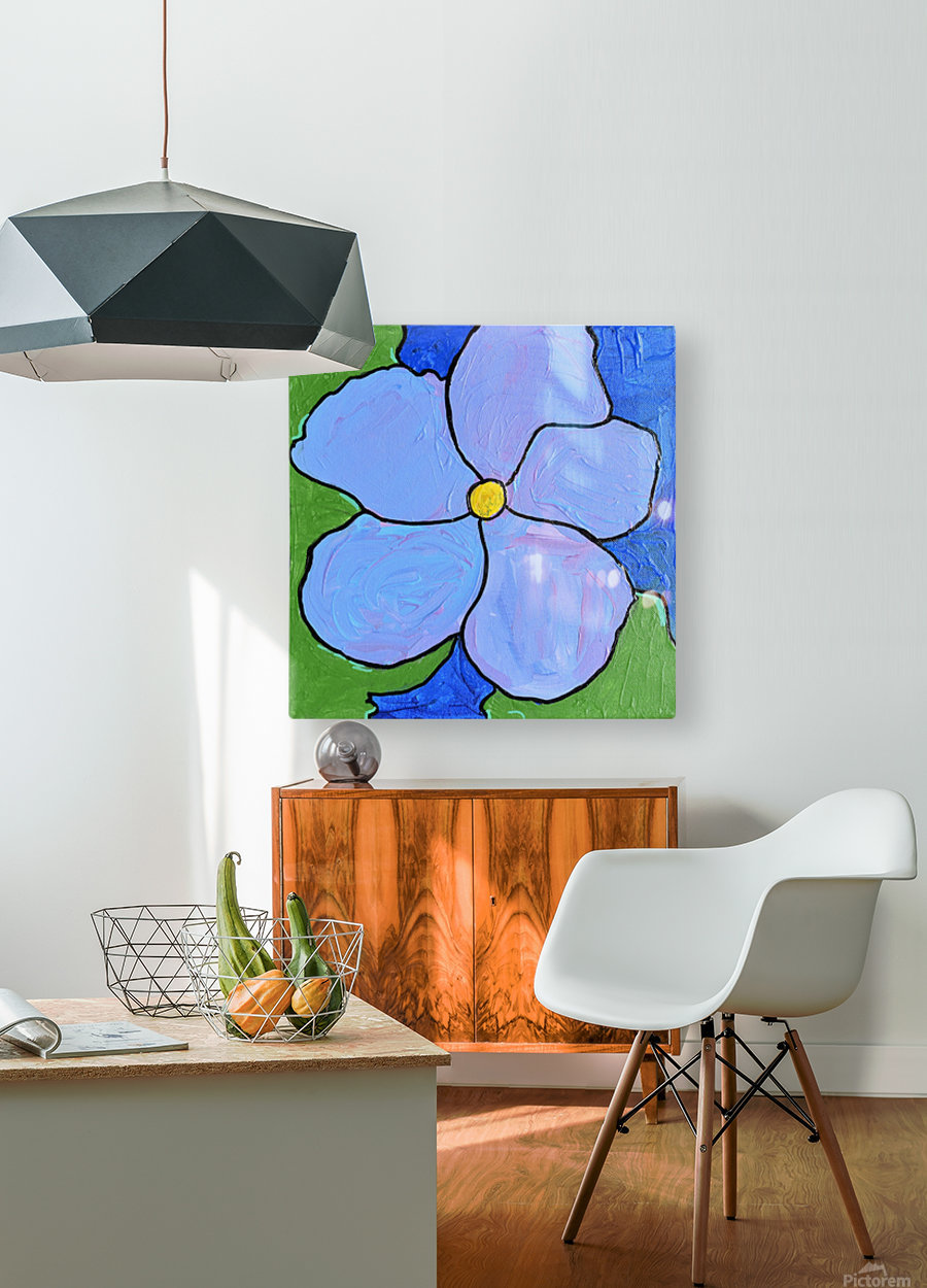 Purple Flower. Jessica A  HD Metal print with Floating Frame on Back