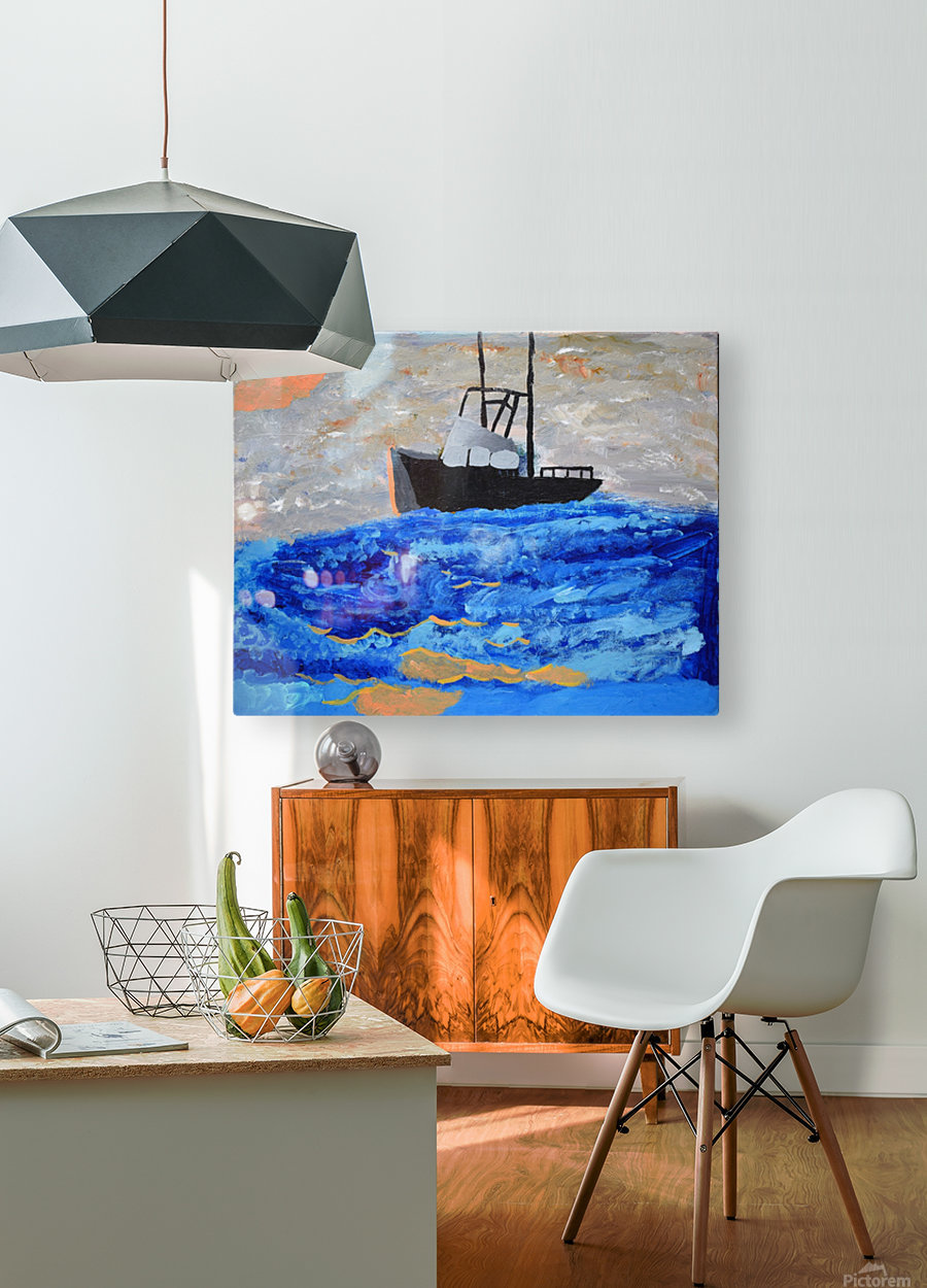 Tug Boat. Davey K  HD Metal print with Floating Frame on Back