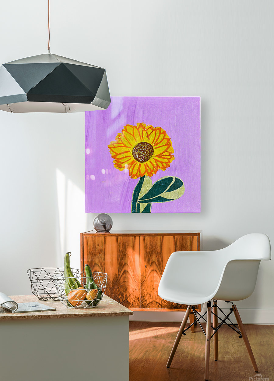Sunflower. Annie F.  HD Metal print with Floating Frame on Back