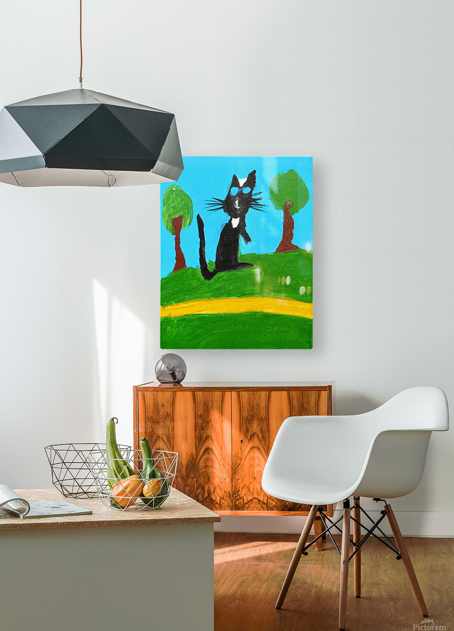 Meow. Susan S  HD Metal print with Floating Frame on Back
