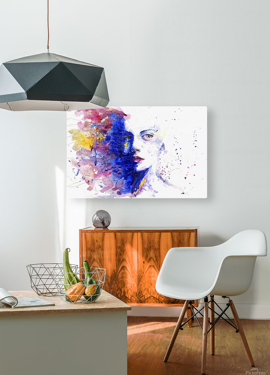 CAREFREE  HD Metal print with Floating Frame on Back