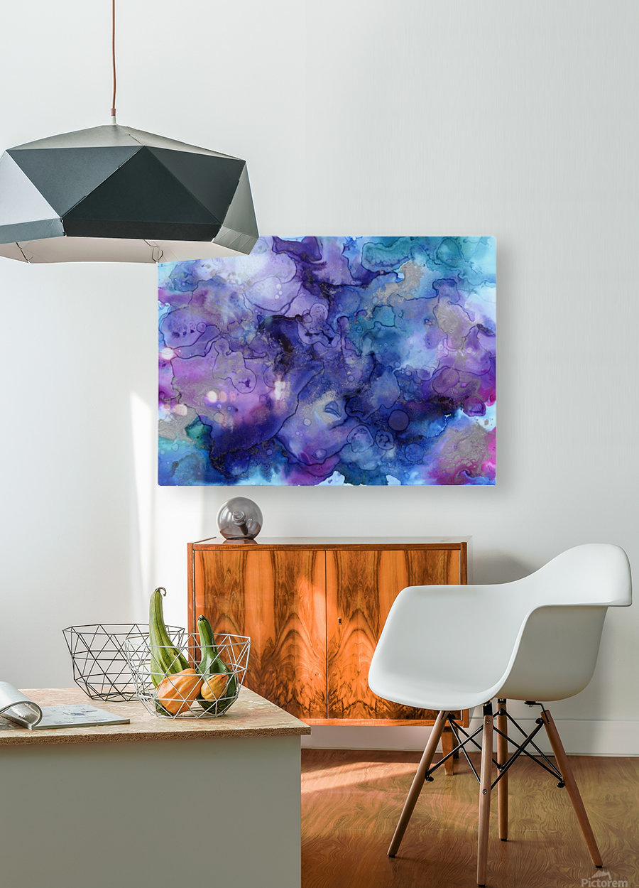PURPLE CLOUDS  HD Metal print with Floating Frame on Back