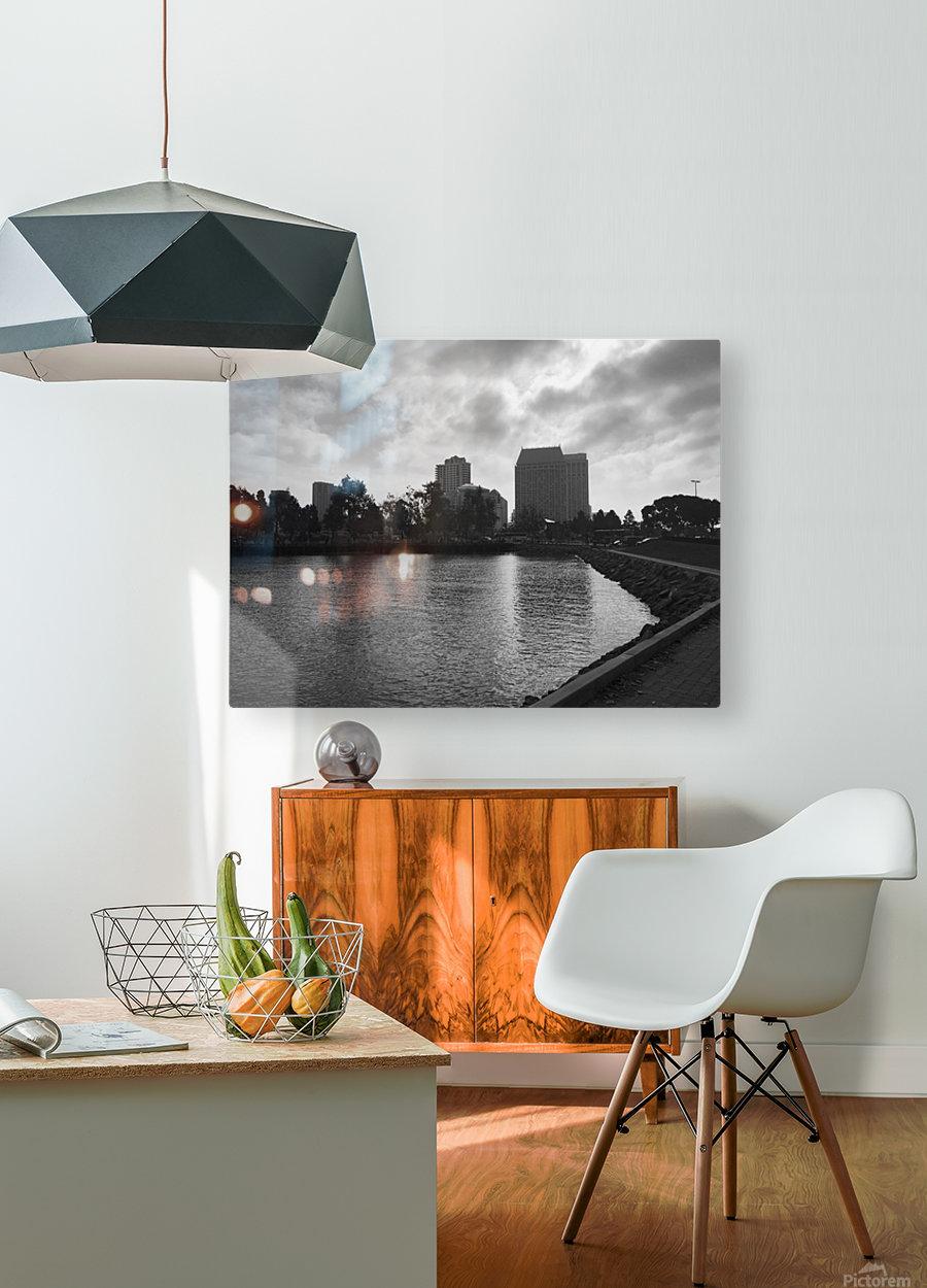 San Diego Marina  HD Metal print with Floating Frame on Back