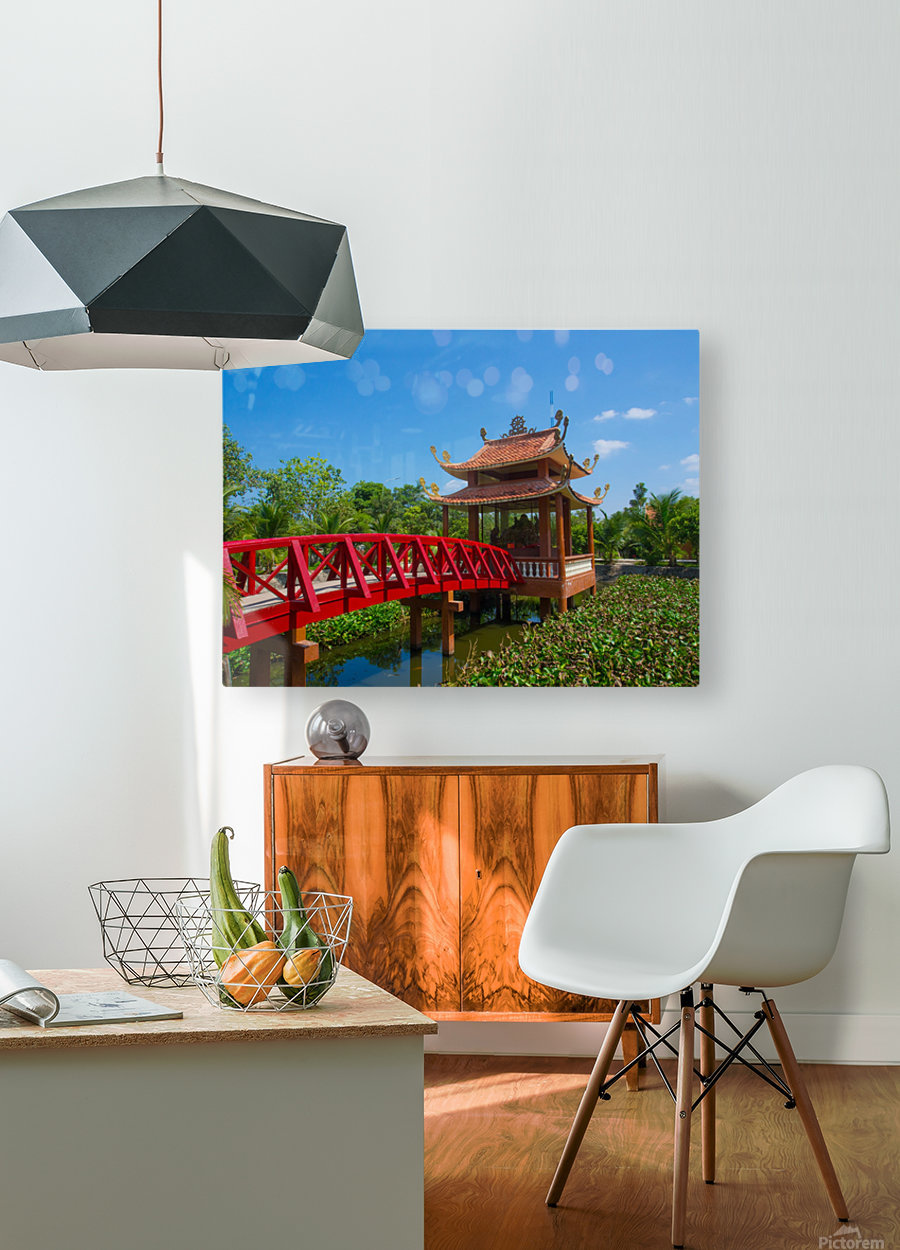 Can Tho temple VietNam  HD Metal print with Floating Frame on Back