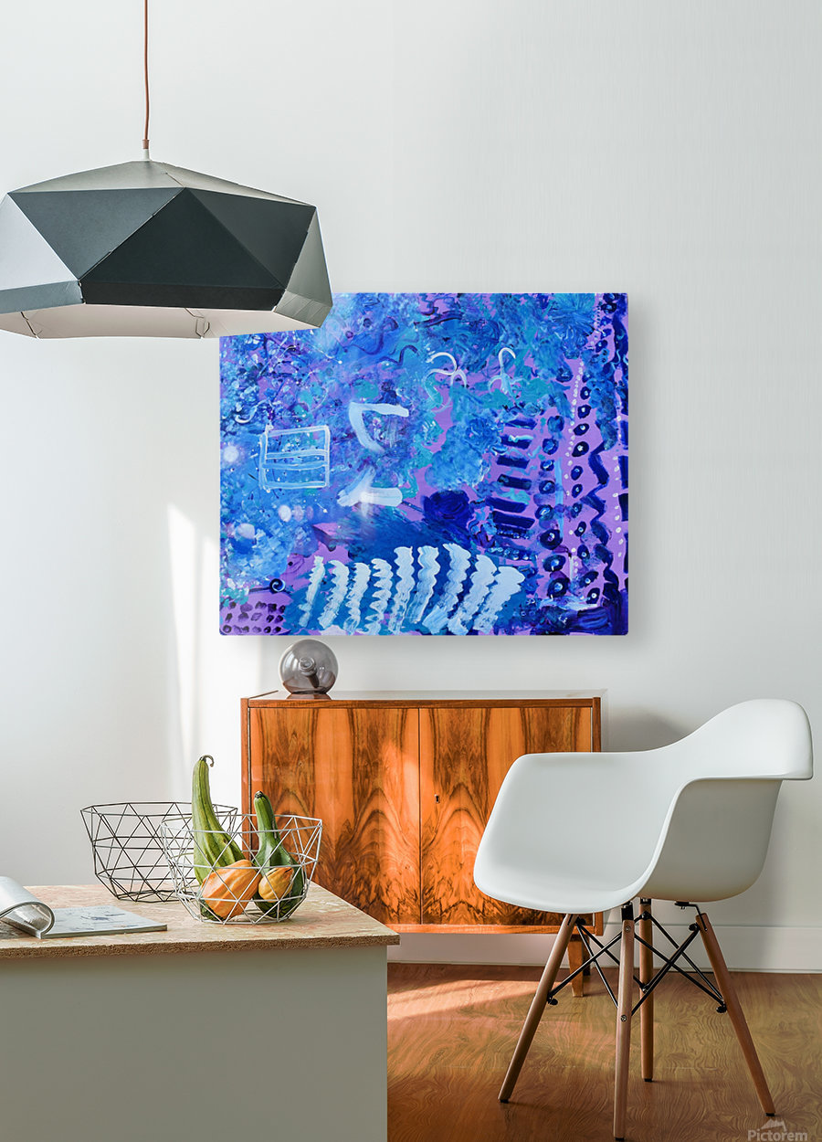 Blue Colab. Arts Education Artist  HD Metal print with Floating Frame on Back