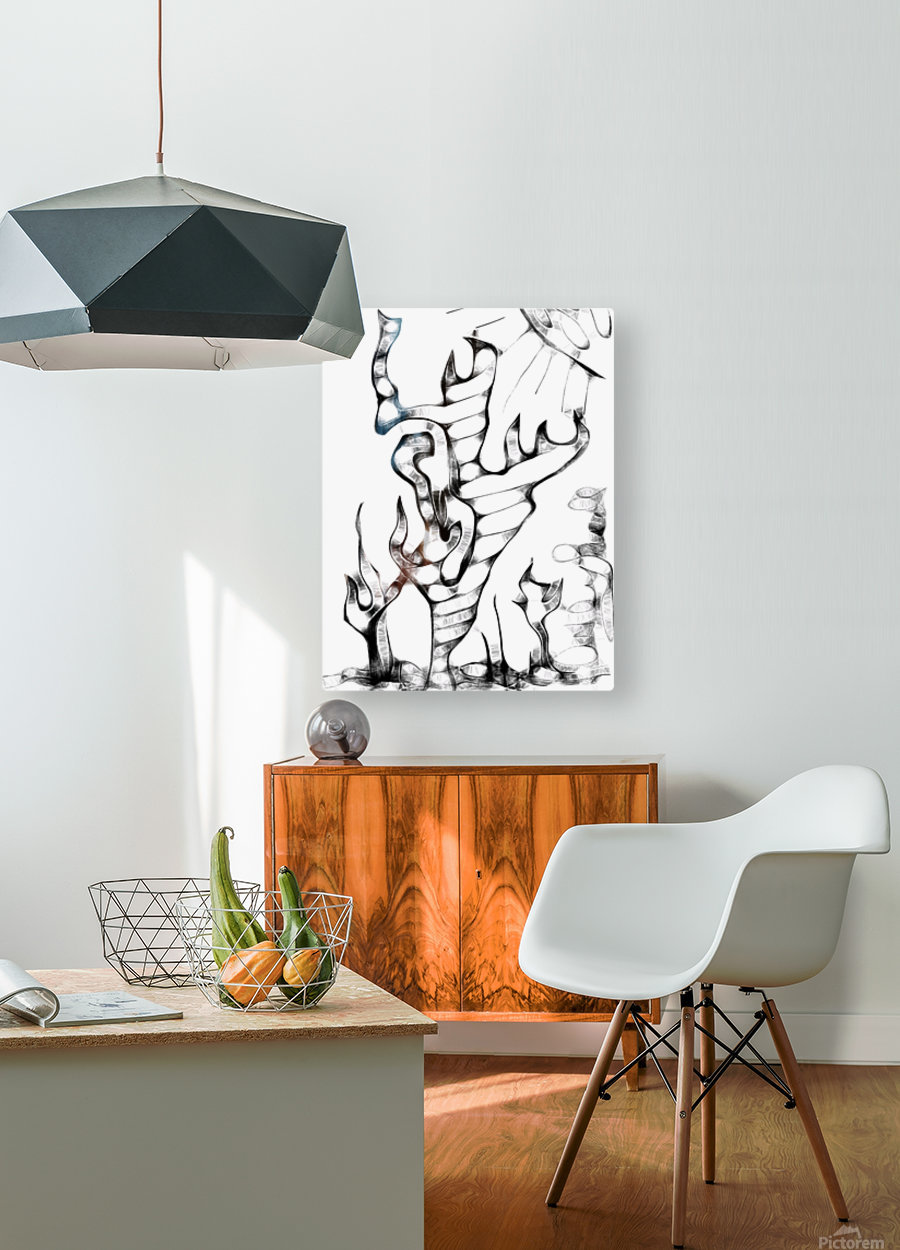 Cactus Sunrise  HD Metal print with Floating Frame on Back