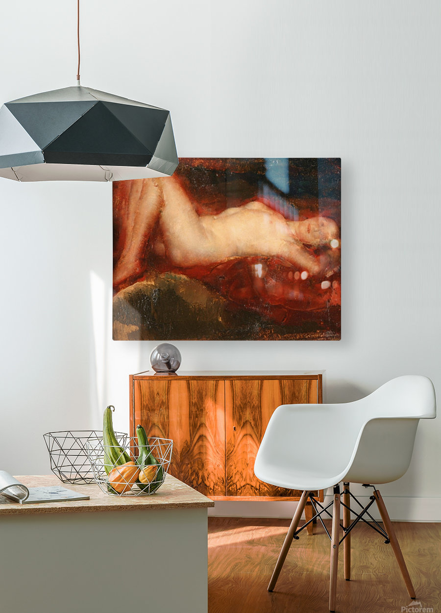 Nude (2)  HD Metal print with Floating Frame on Back