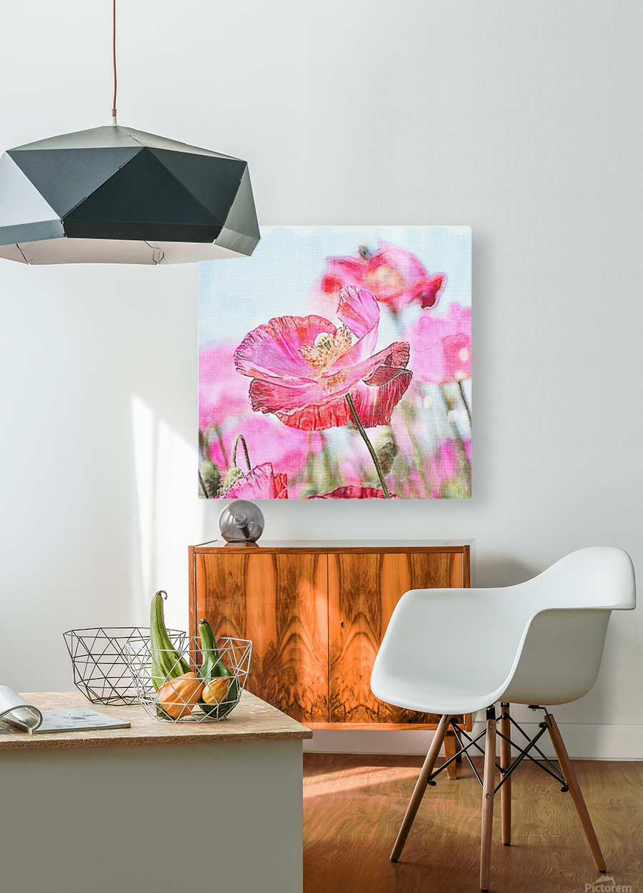 WILD POPPYS  HD Metal print with Floating Frame on Back