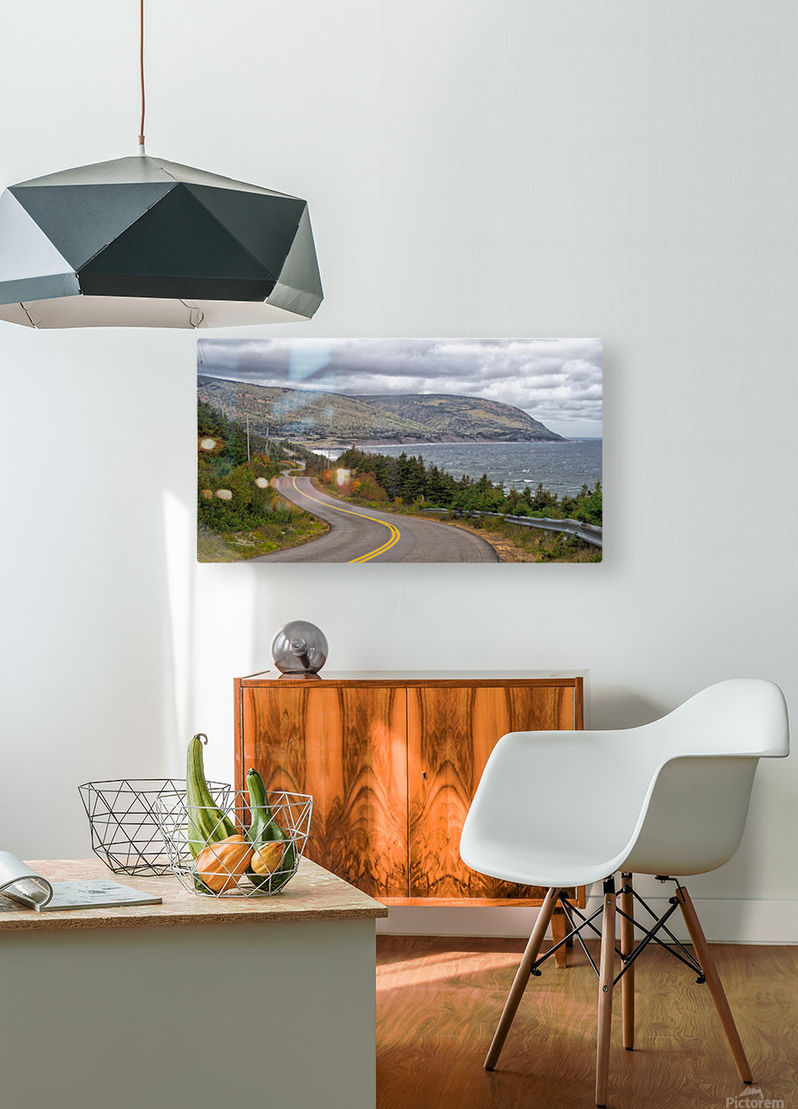 Long and Winding Road  HD Metal print with Floating Frame on Back