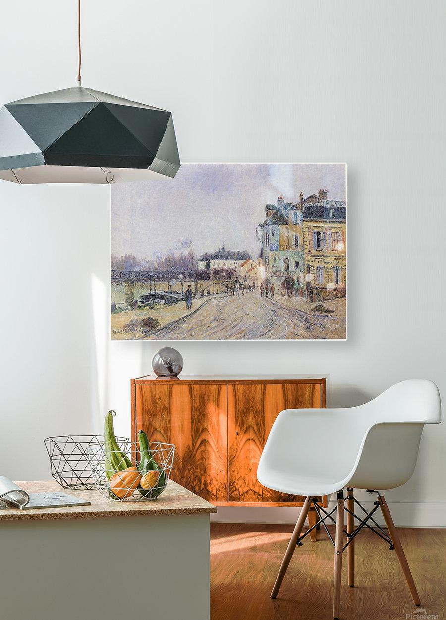 Street of Pontoise  HD Metal print with Floating Frame on Back
