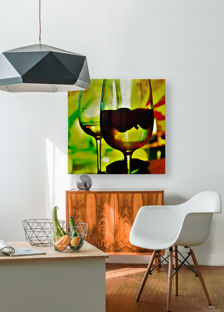 winedown  HD Metal print with Floating Frame on Back