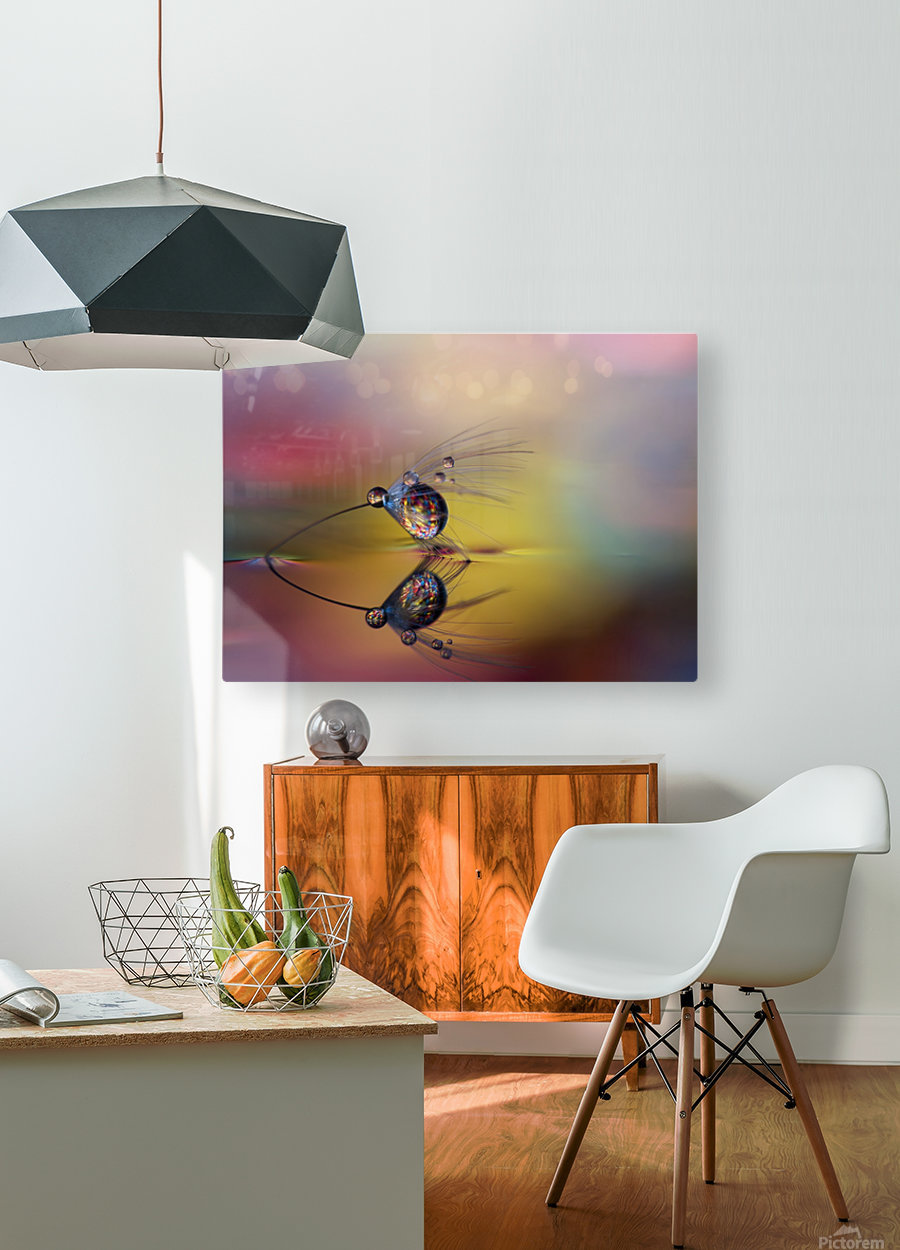 Colorize the darkness  HD Metal print with Floating Frame on Back