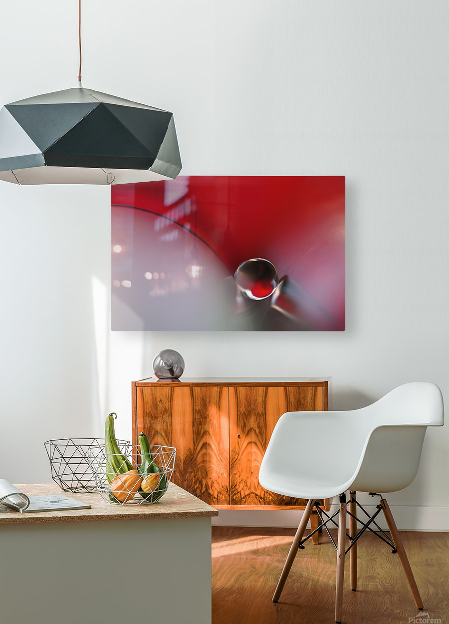 Between  HD Metal print with Floating Frame on Back