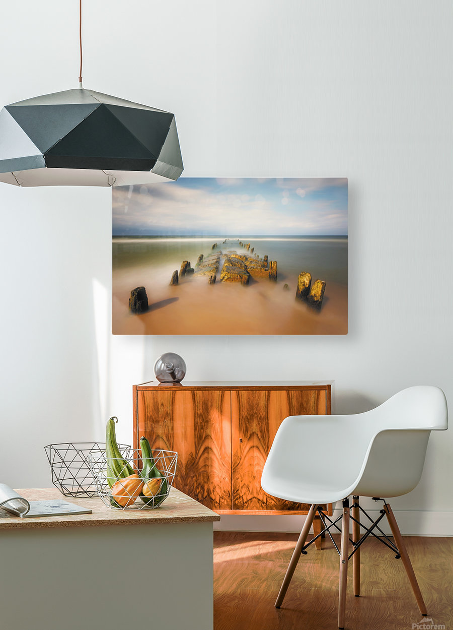 sea road  HD Metal print with Floating Frame on Back