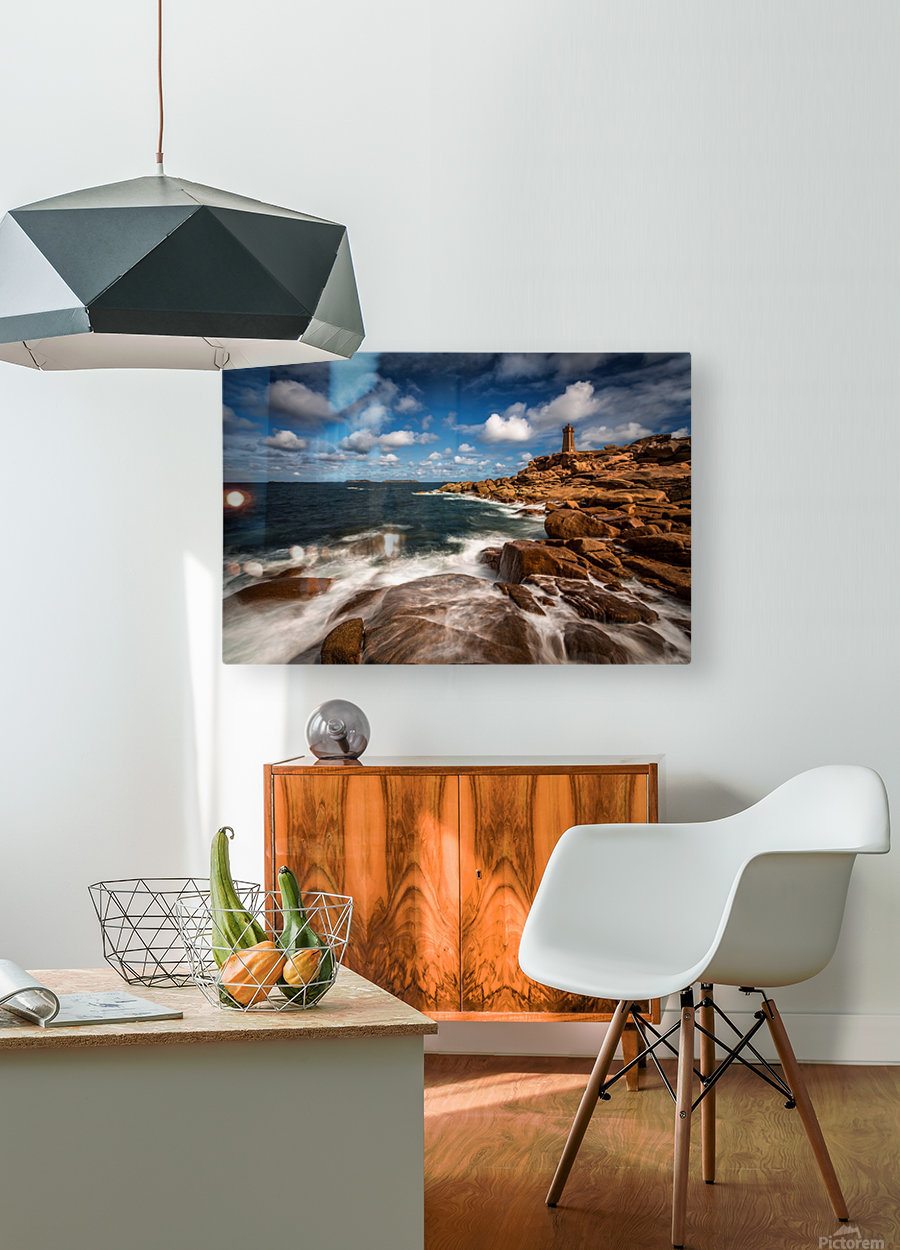 Le phare de Ploumanac'h  HD Metal print with Floating Frame on Back