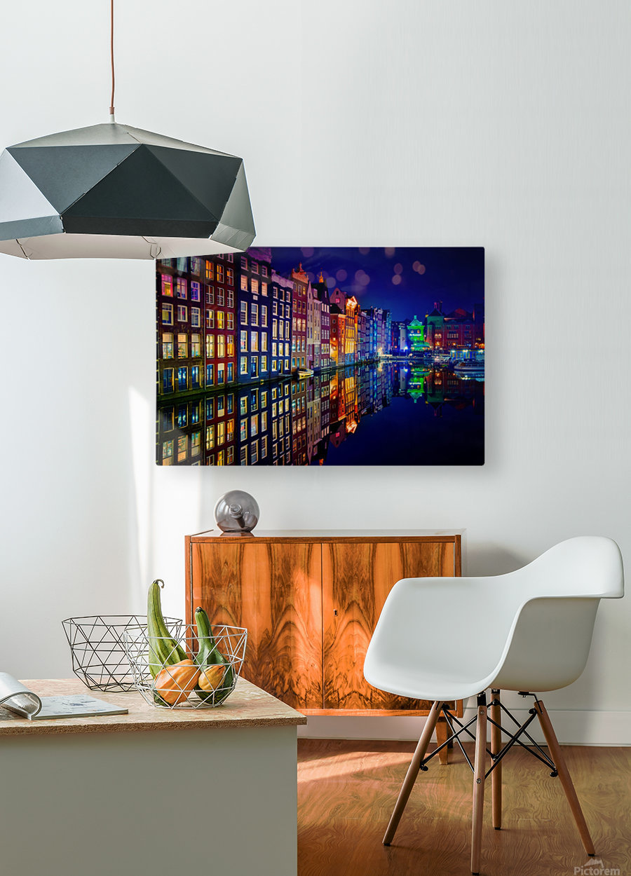 Amsterdam  HD Metal print with Floating Frame on Back
