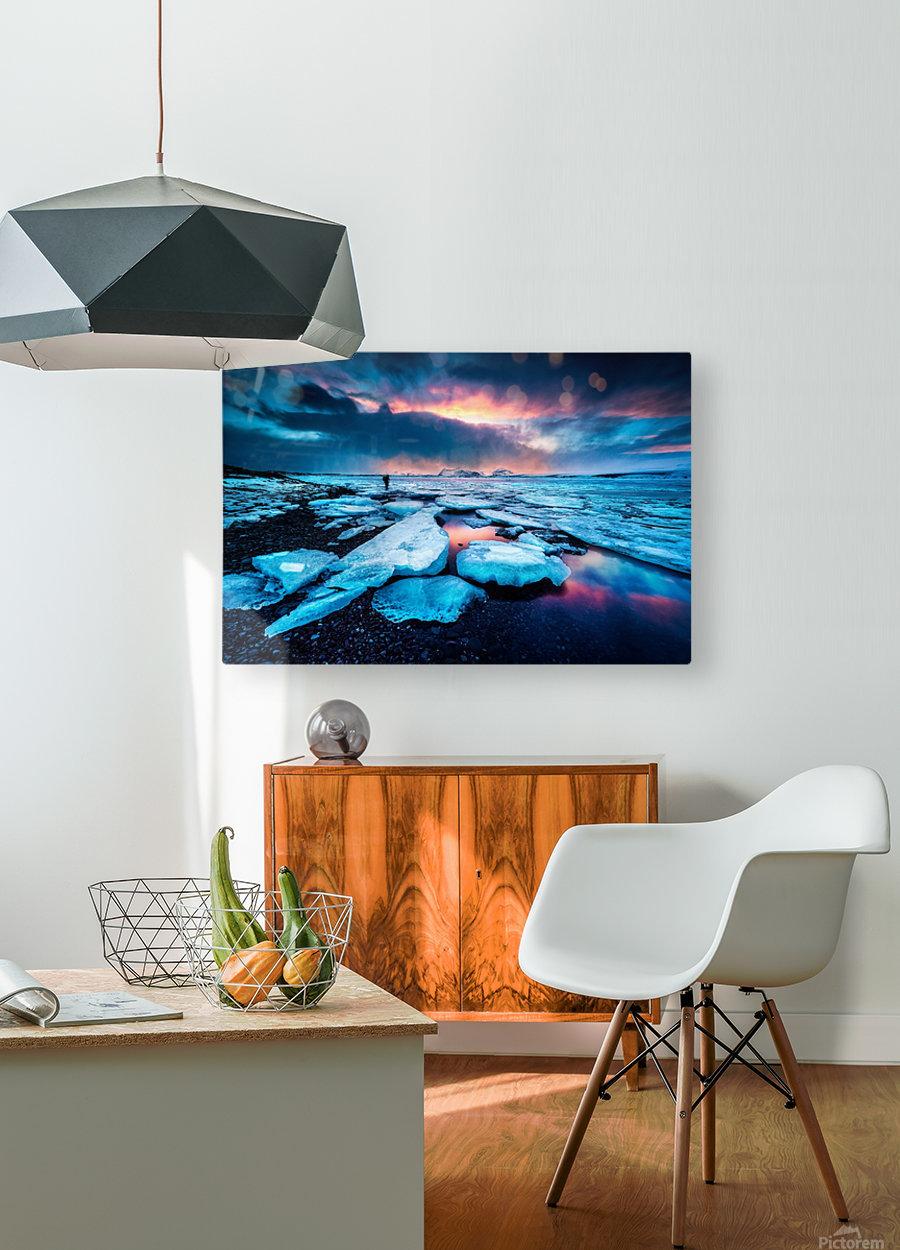 Badlands III  HD Metal print with Floating Frame on Back