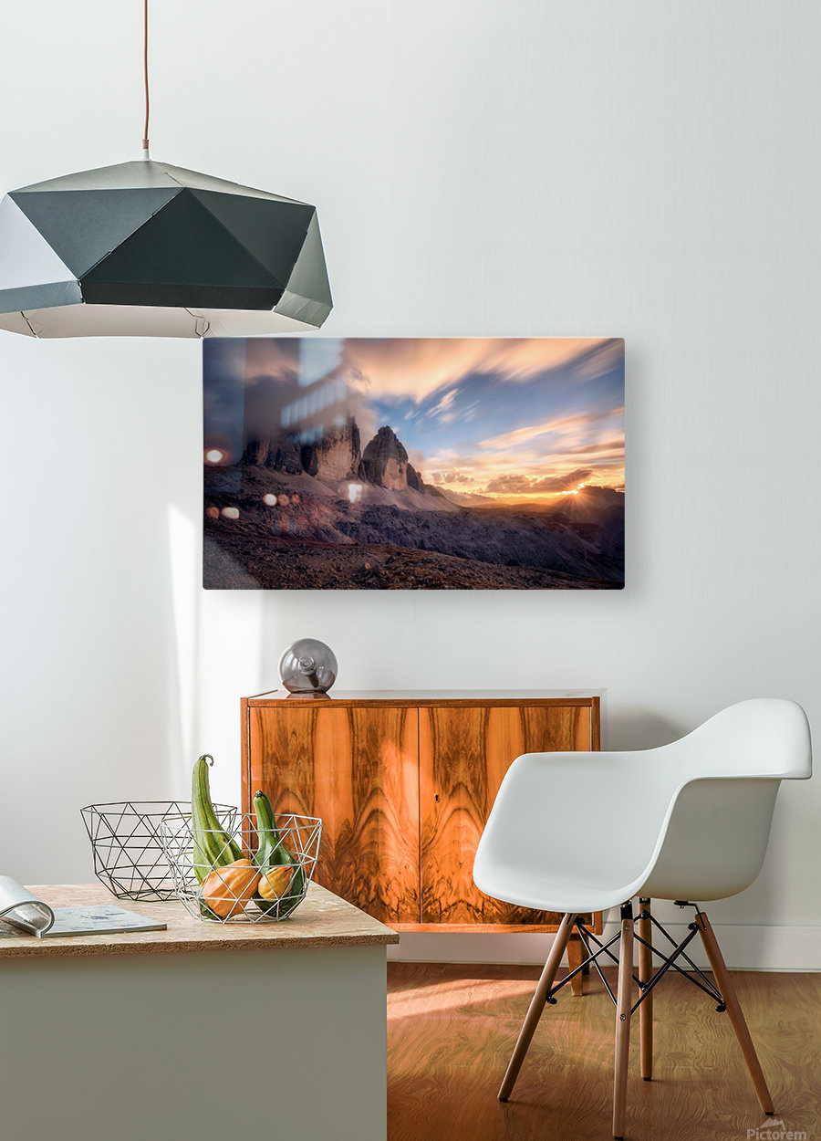 The Final Moment  HD Metal print with Floating Frame on Back