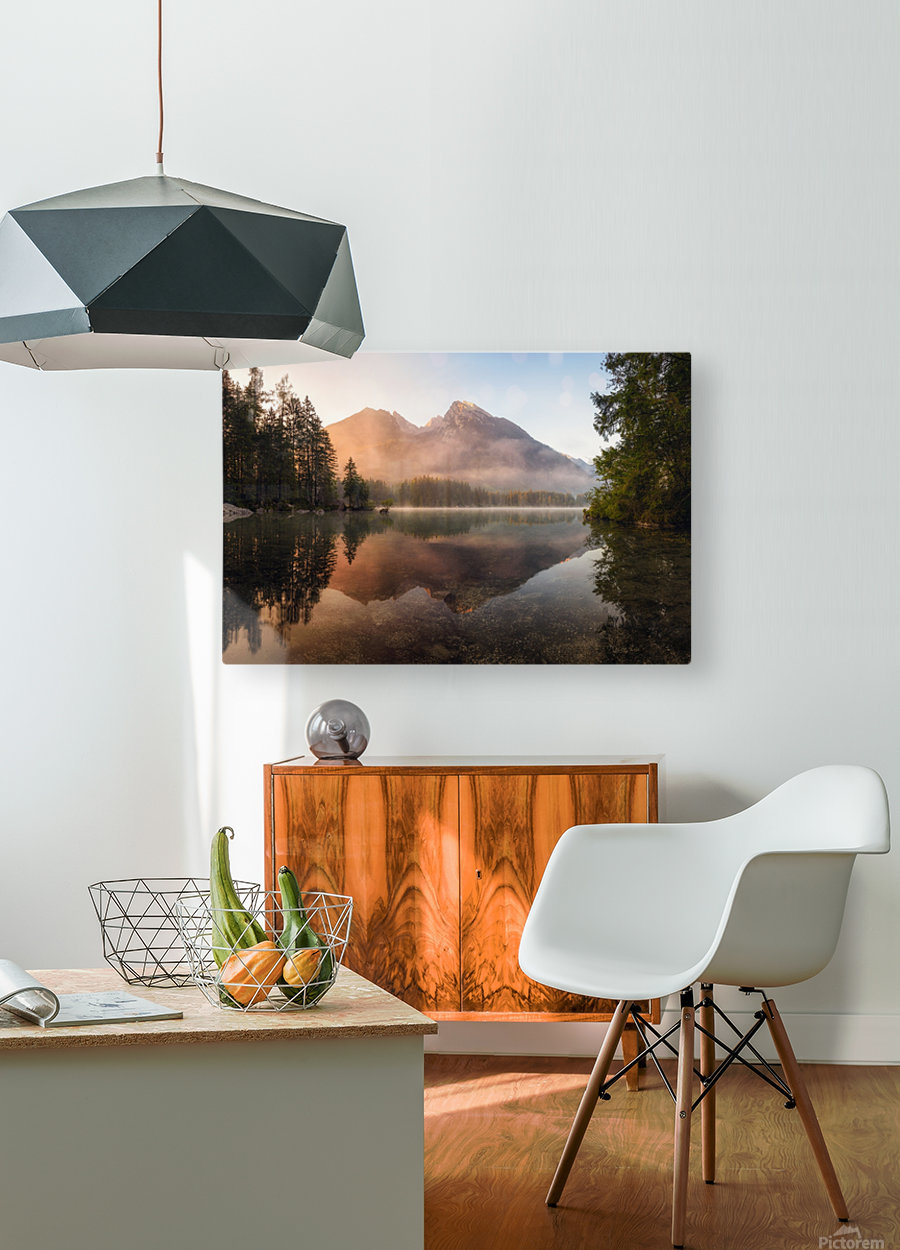 Glowing Mist  HD Metal print with Floating Frame on Back