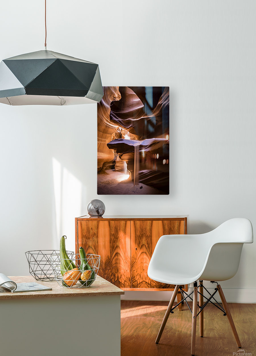 Sand Fall  HD Metal print with Floating Frame on Back
