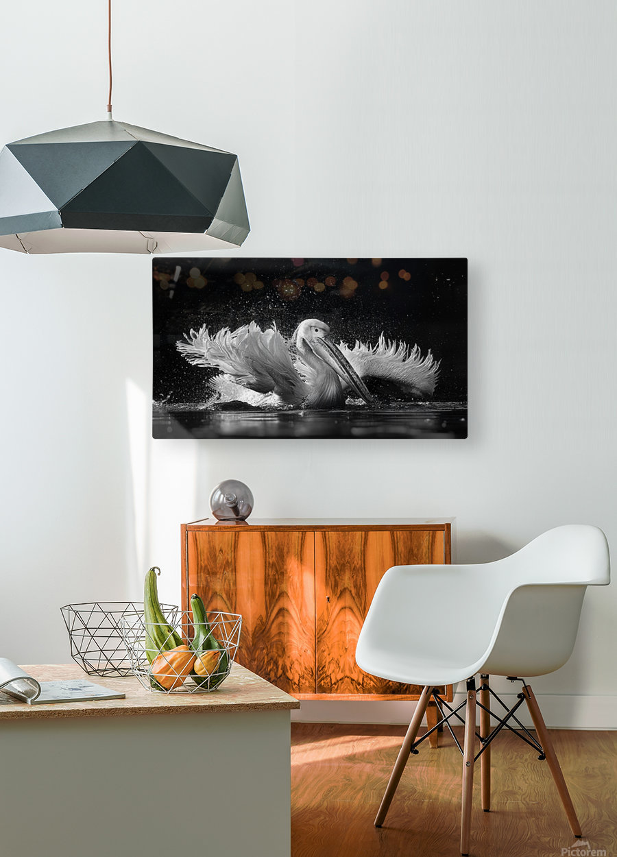 Refreshing  HD Metal print with Floating Frame on Back