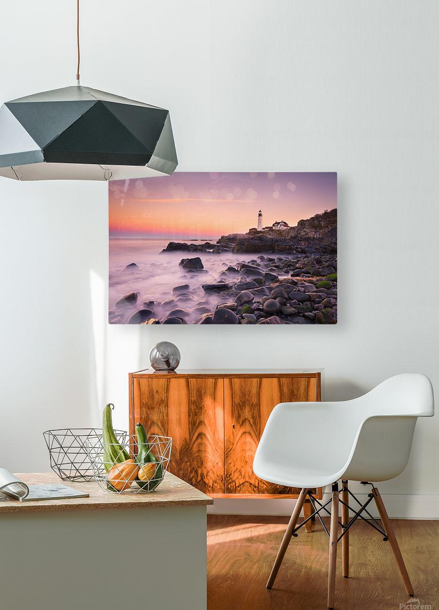 Portland Headlight  HD Metal print with Floating Frame on Back