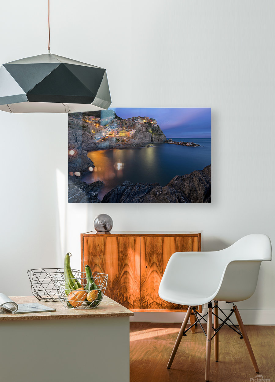 Manarola Lifestyle  HD Metal print with Floating Frame on Back