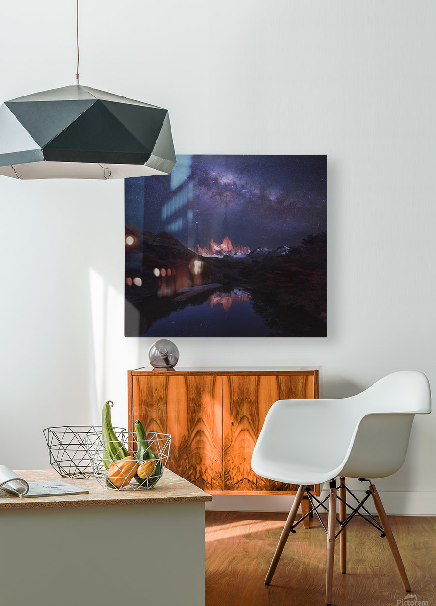 Patagonia Autumn Night  HD Metal print with Floating Frame on Back