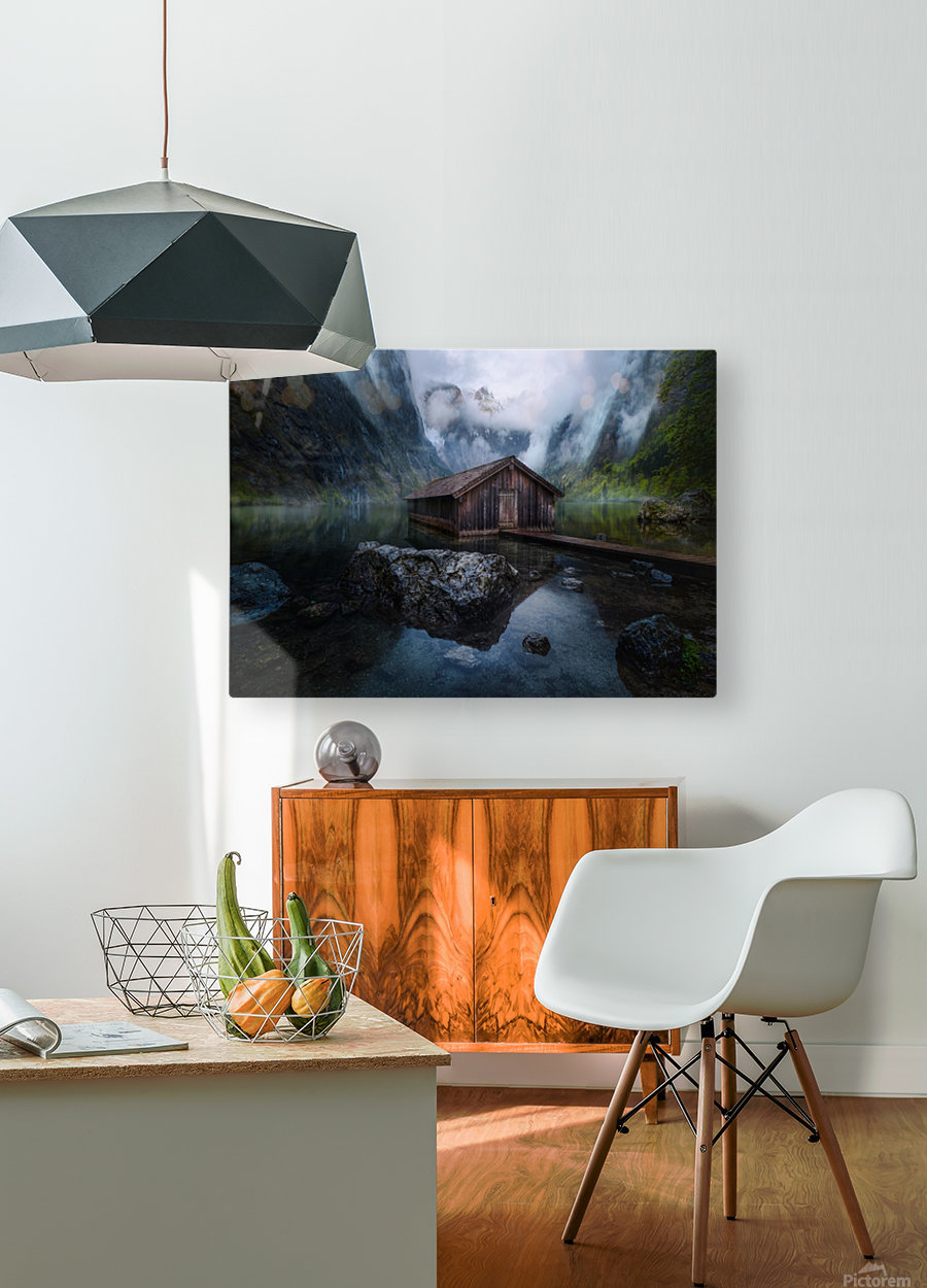 Ober-View  HD Metal print with Floating Frame on Back