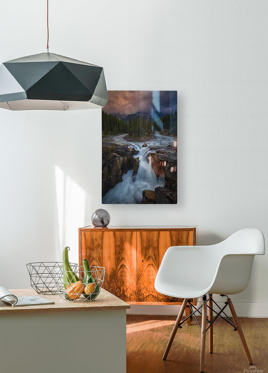 Sunwapta Falls  HD Metal print with Floating Frame on Back