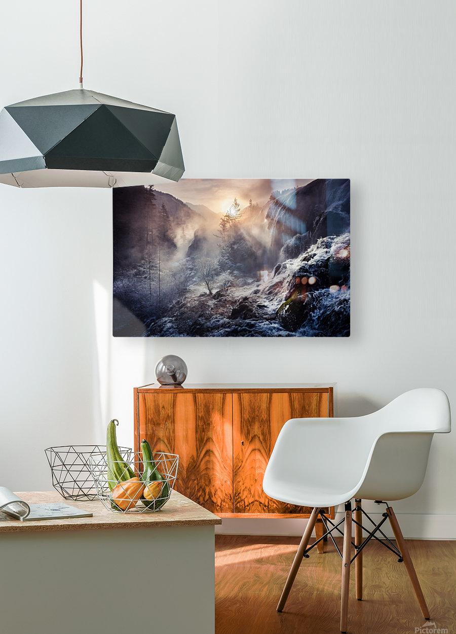 """Jiuzhaigou China a€Še""""a¹»aœa¢ƒa€‹  HD Metal print with Floating Frame on Back"""