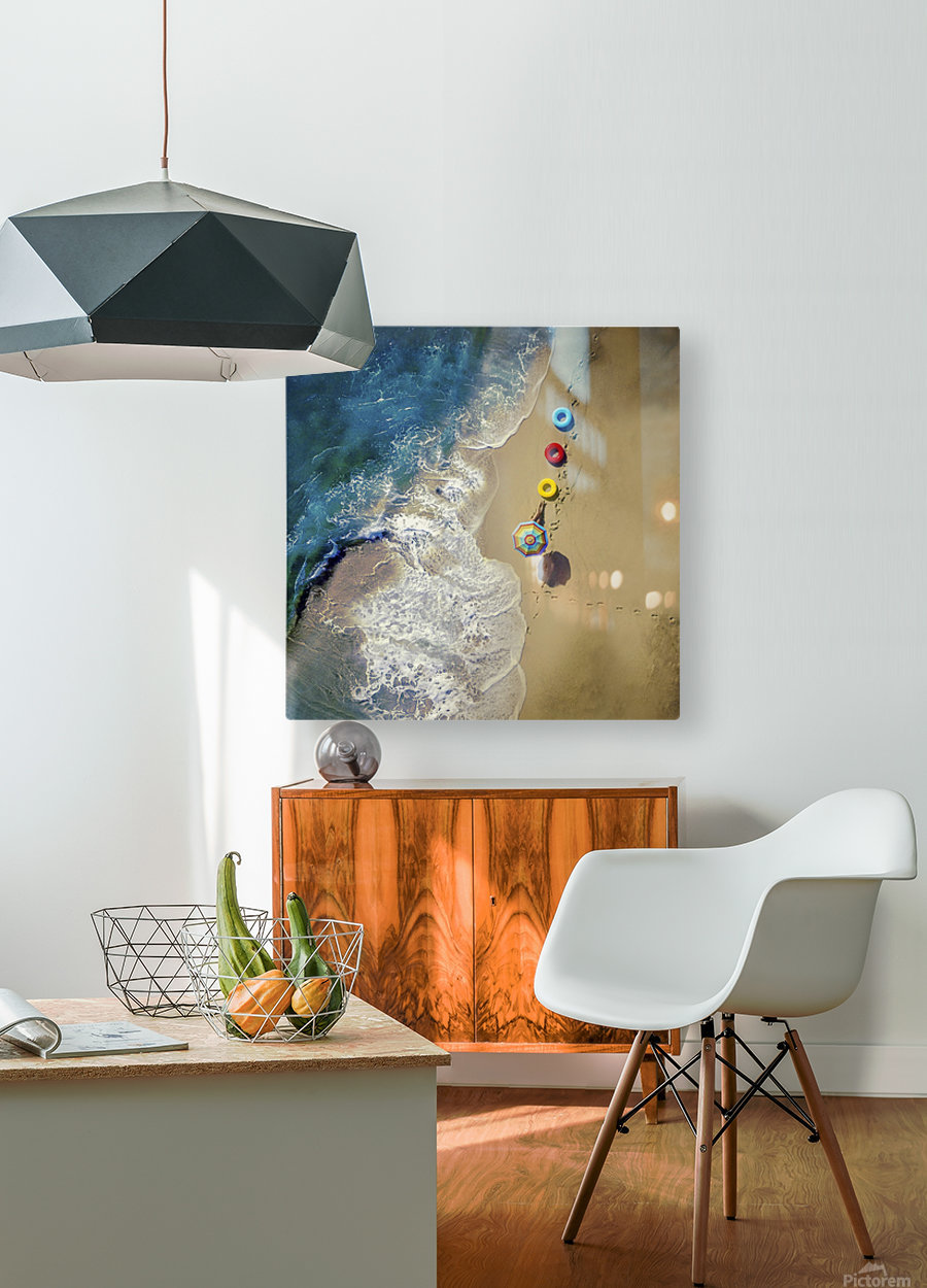 hi summer!  HD Metal print with Floating Frame on Back