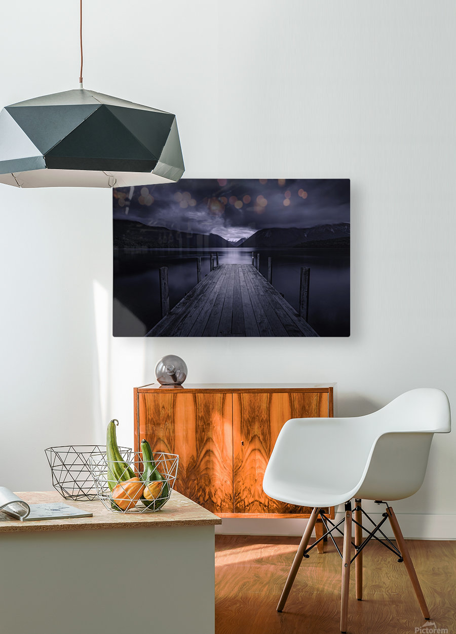 Storm Coming  HD Metal print with Floating Frame on Back