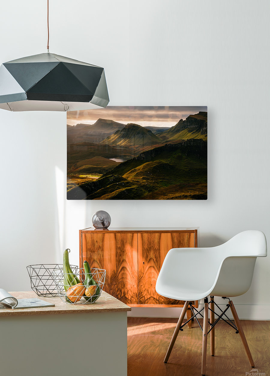 Light and Shadows  HD Metal print with Floating Frame on Back