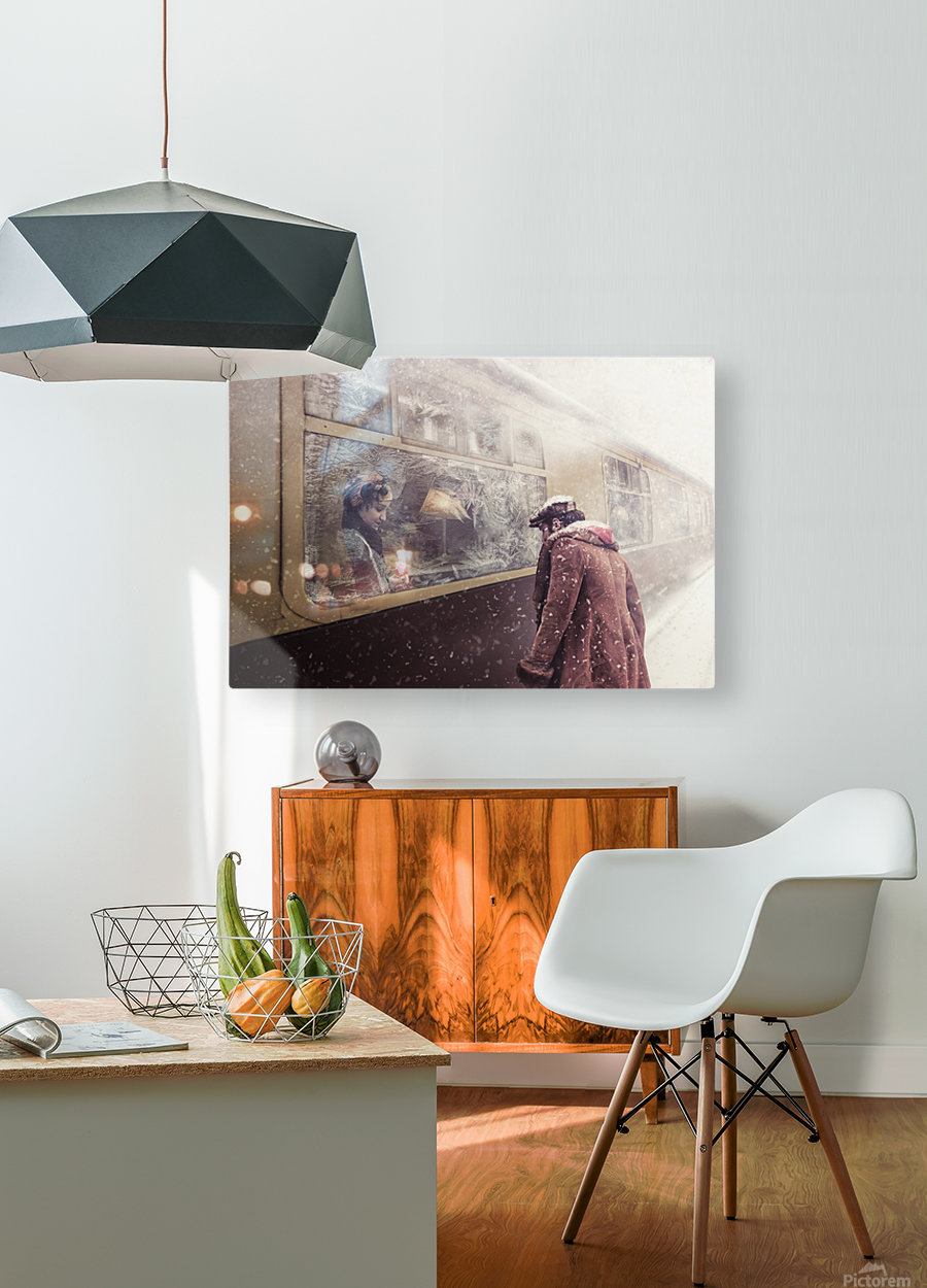 Take care  HD Metal print with Floating Frame on Back