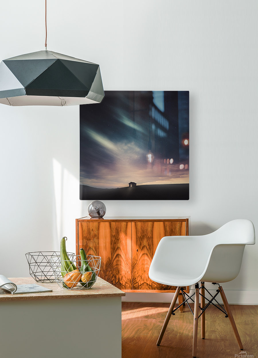Lost  HD Metal print with Floating Frame on Back