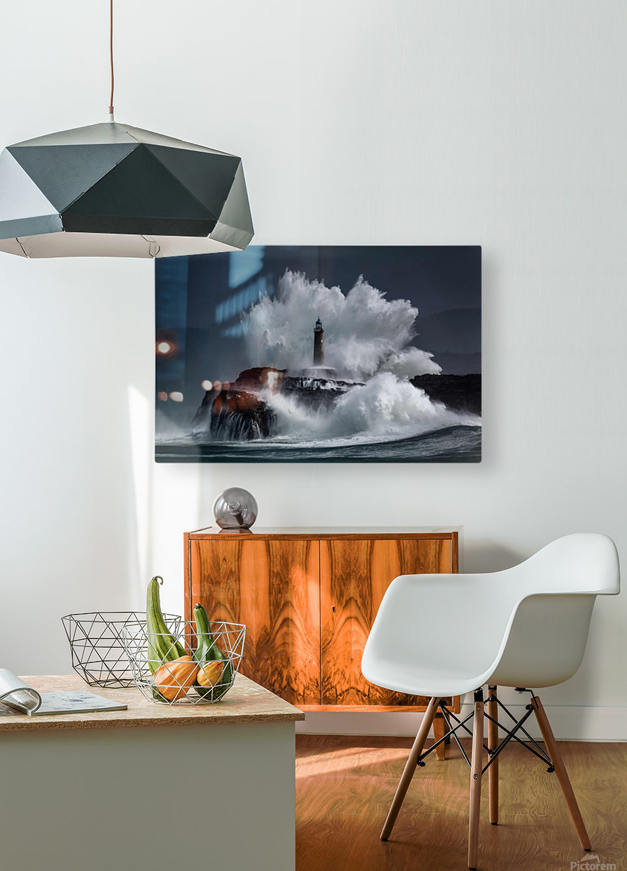 Comb  HD Metal print with Floating Frame on Back