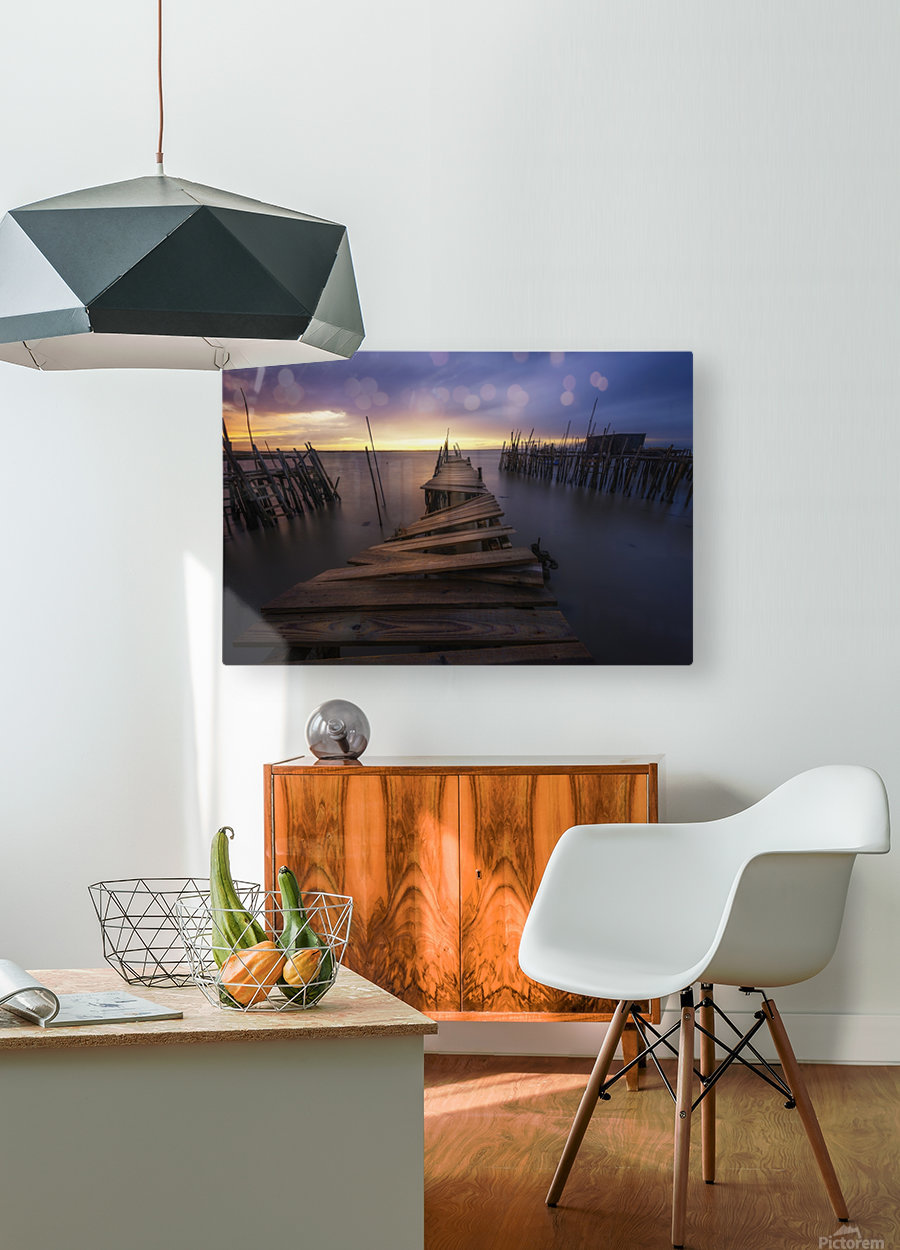 The end  HD Metal print with Floating Frame on Back